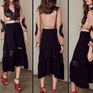 For love and lemons Penelope midi lace skirt
